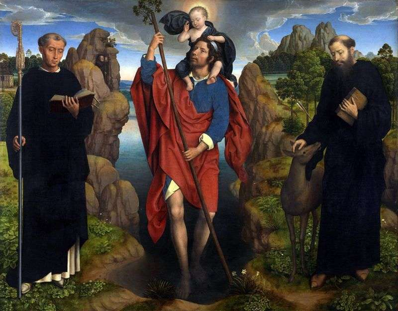 Святий Христофор   Ганс Мемлінг