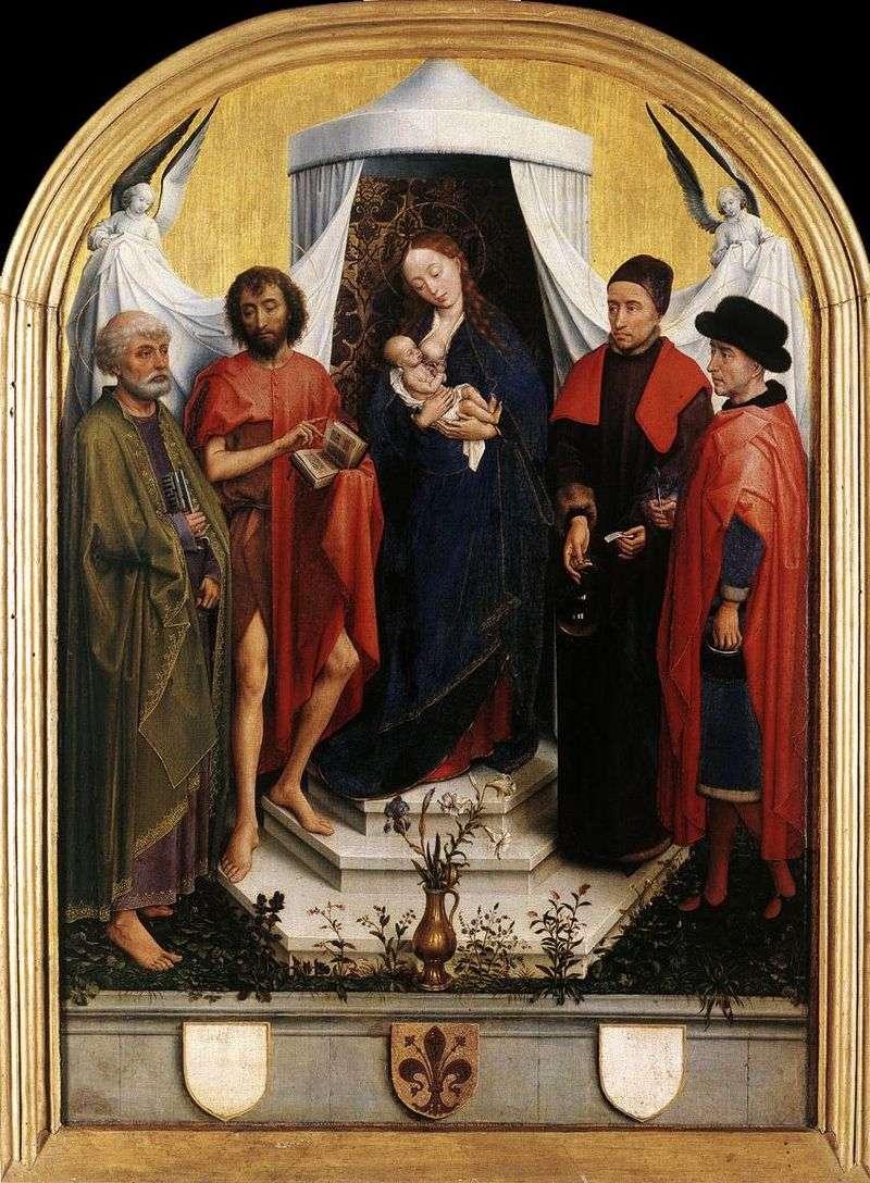 Мадонна з Немовлям і чотирма святими   Рогир ван дер Вейден