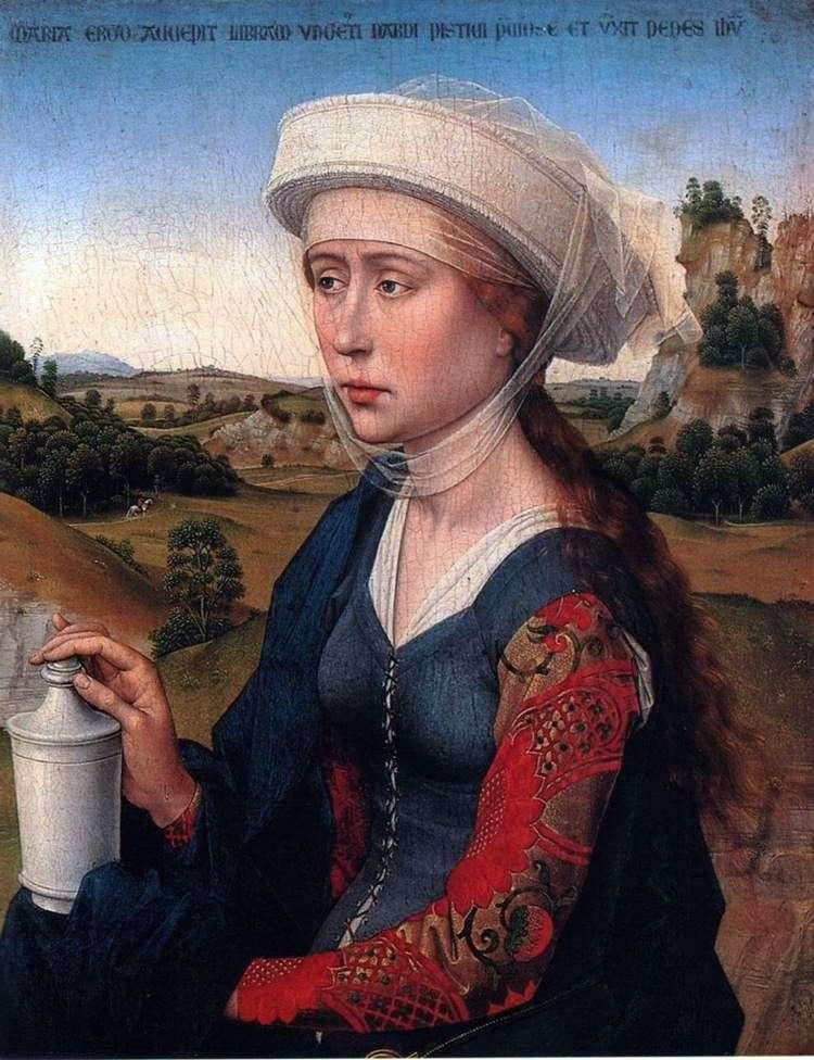 Марія Магдалина. Частина Триптиха сімї Шлюб   Рогир ван дер Вейден