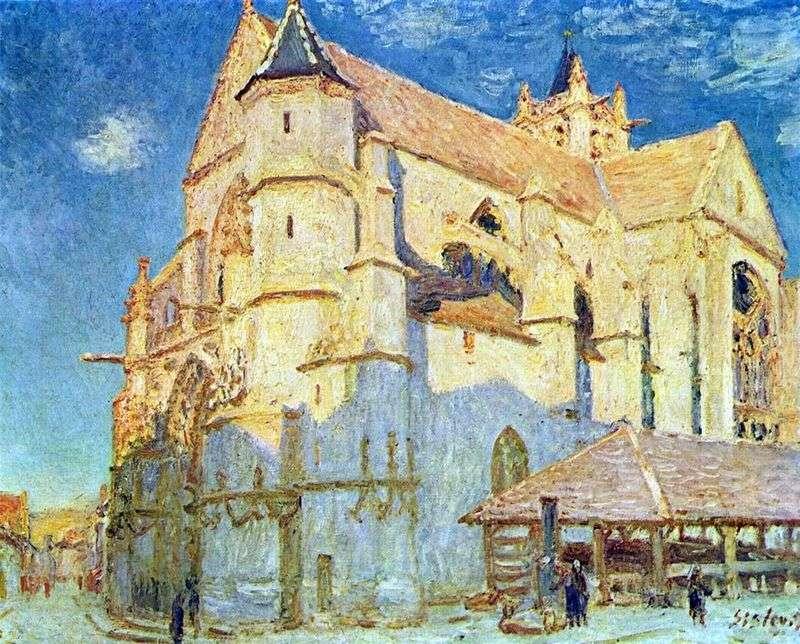 Церква в Море   Альфред Сіслей