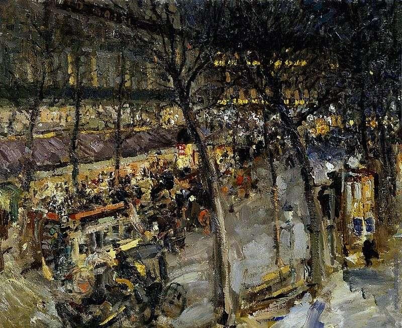 Париж. Кафе де ля Пе   Костянтин Коровін