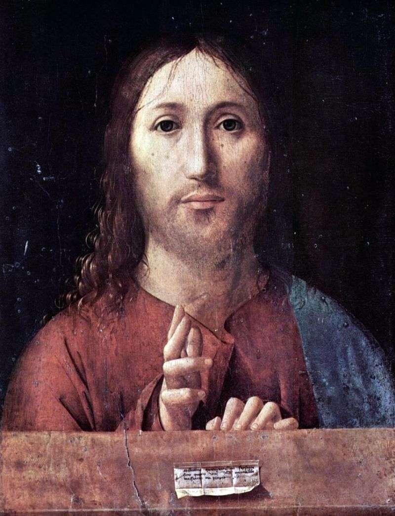 Благословляючий Христос   Антонелло да Мессіна