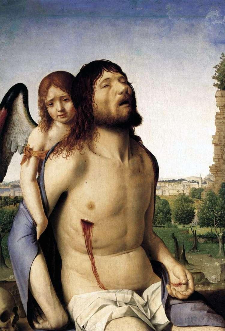 Мертвий Христос, підтримуваний ангелом   Антонелло да Мессіна