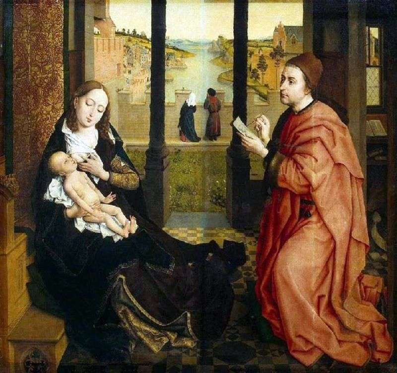 Св. Лука, який малює Мадонну   Рогир ван дер Вейден