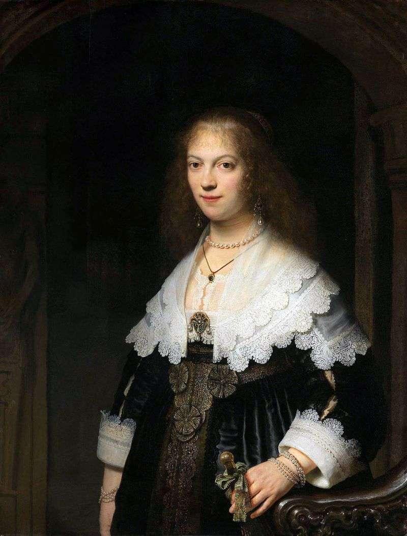 Портрет Марії Тріп   Рембрандт Харменс Ван Рейн