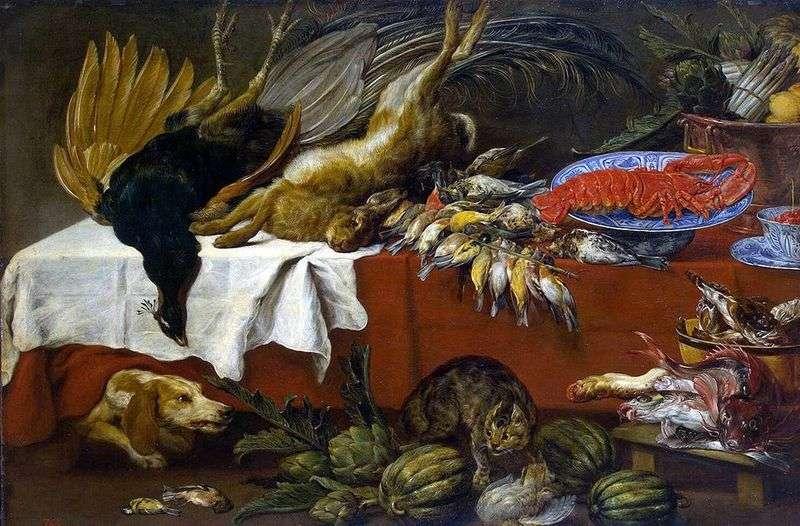 Натюрморт з битою дичиною і омаром   Франс Снейдерс