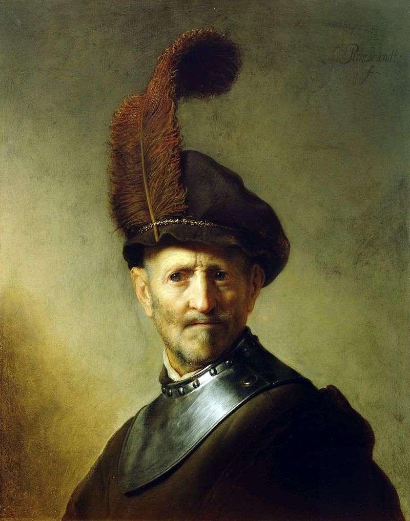 Портрет старого воїна   Рембрандт Харменс Ван Рейн