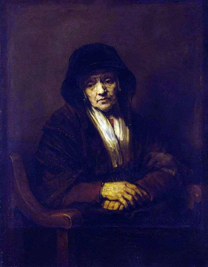 Портрет баби   Рембрандт Харменс Ван Рейн