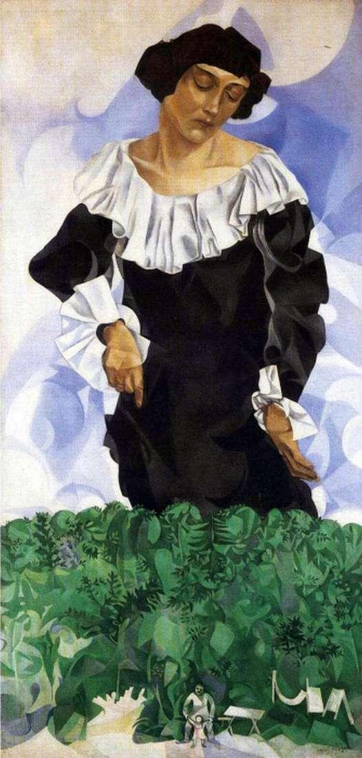 Белла з білим коміром   Марк Шагал