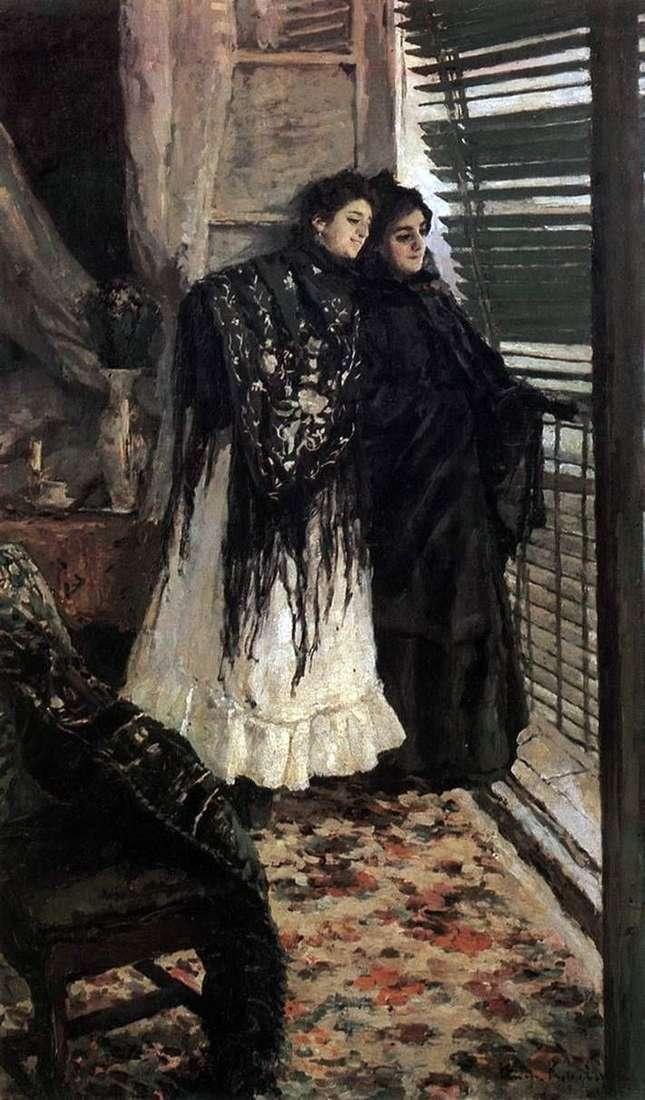 У балкону. Іспанки Леонора і Ампара   Костянтин Коровін