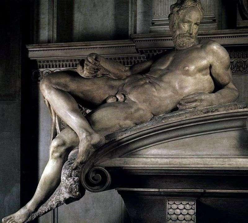 Вечір (скульптура)   Мікеланджело Буонарроті