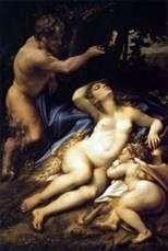Венера і Амур, за якими підглядає сатир   Корреджо (Антоніо Алегрі)