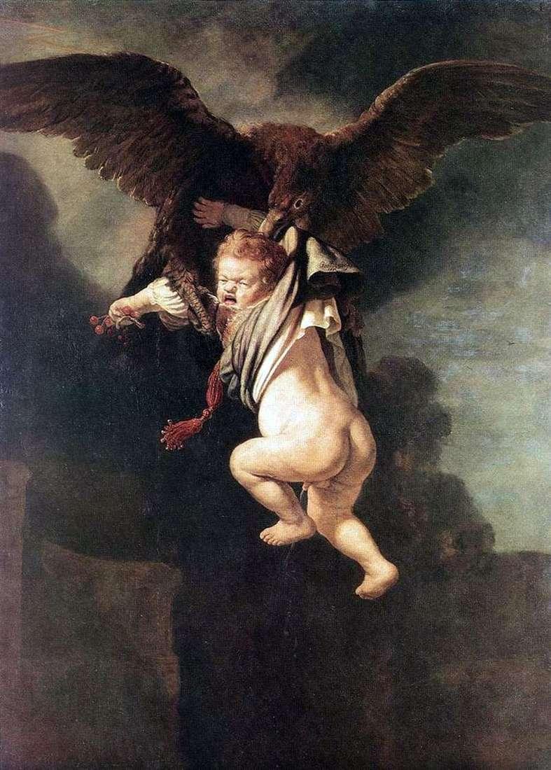 Викрадення Ганімеда (Ганімед в пазурах орла)   Рембрандт Харменс Ван Рейн