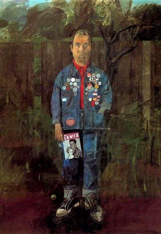 Автопортрет з журналом   Пітер Блейк