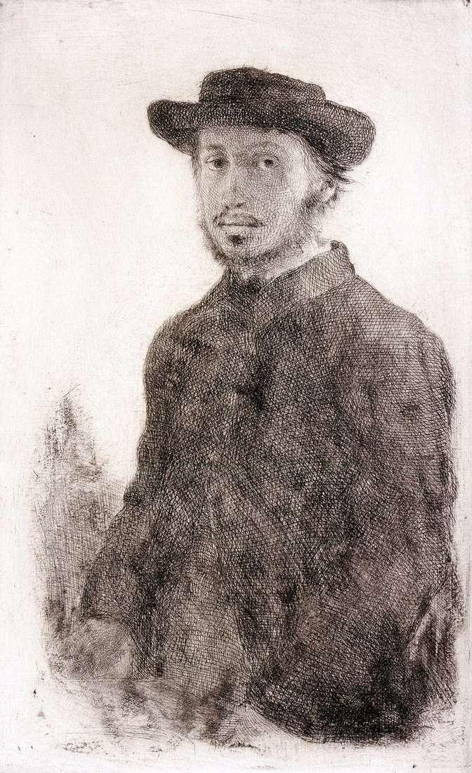 Автопортрет. Гравюра   Едгар Дега