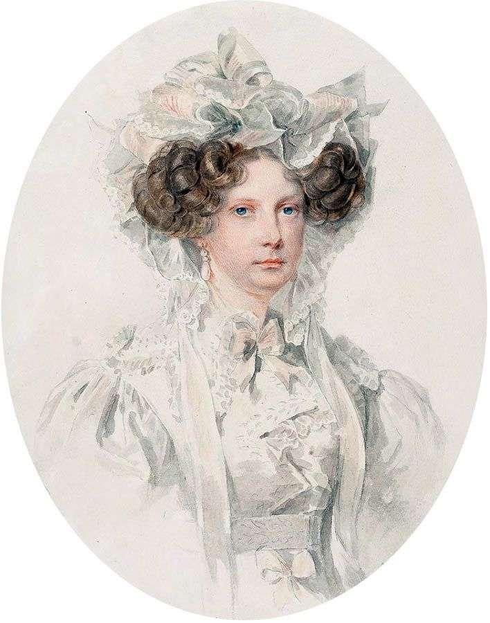 Портрет великої княгині Олександри Федорівни   Петро Соколов