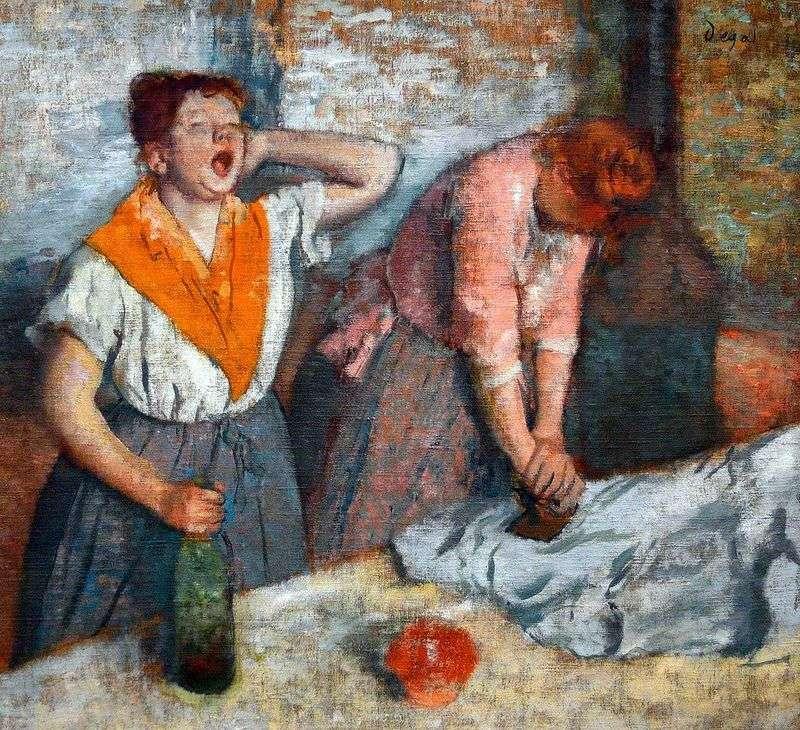 Дві гладильщици   Едгар Дега