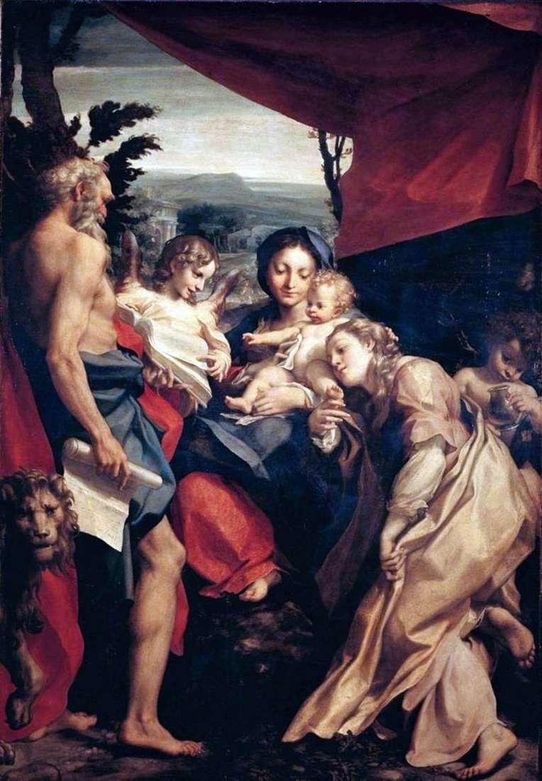 Мадонна зі святим Єронімом   Корреджо (Антоніо Алегрі)
