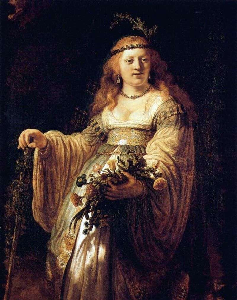 Портрет Саскії у вбранні пастушки   Рембрандт Харменс Ван Рейн