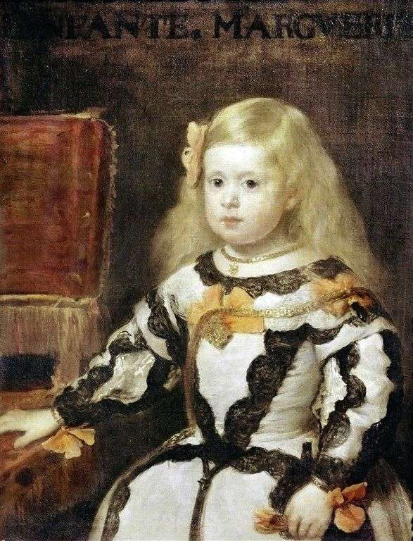 Інфанта Марія Маргарита, дочка короля Філіпа IV, короля Іспанії   Дієго Веласкес