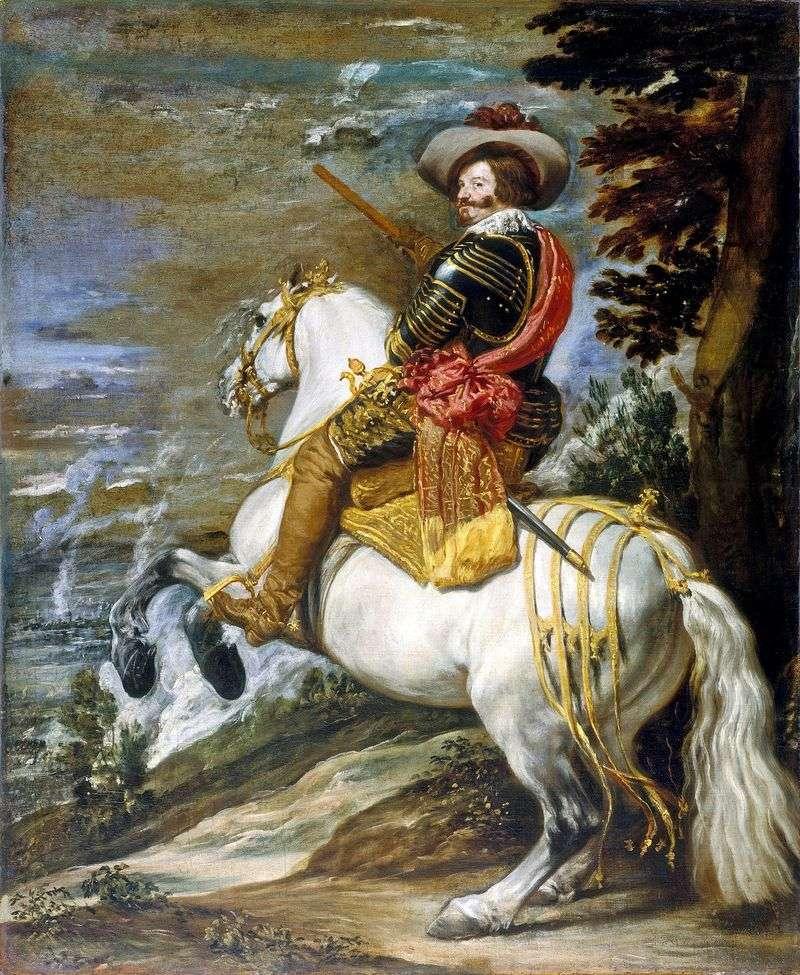 Кінний портрет графа герцога Олівареса   Дієго Веласкес