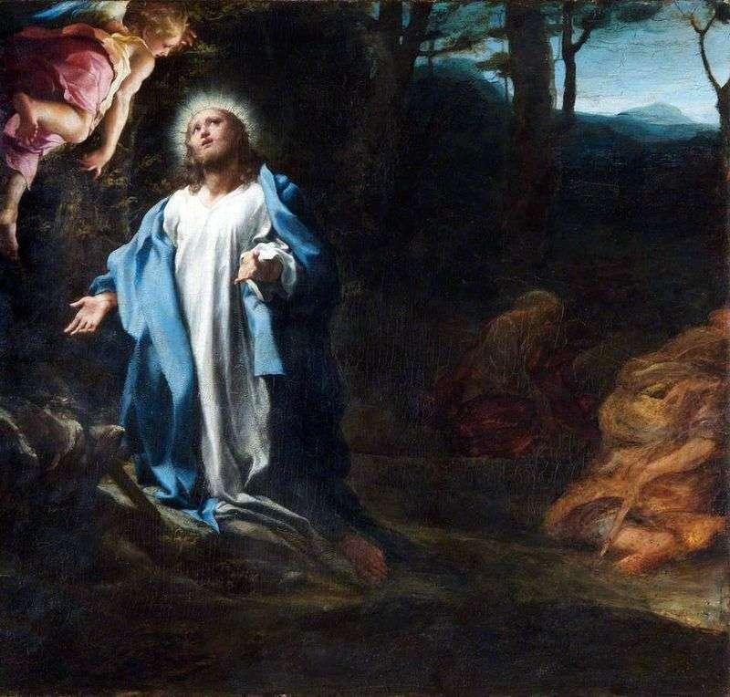 Молитва в Гетсиманському саду   Корреджо (Антоніо Алегрі)
