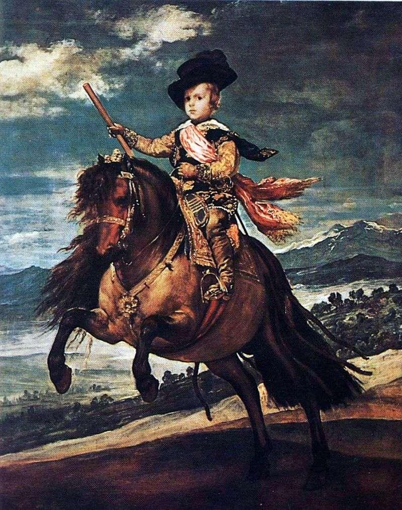 Кінний портрет інфанта Балтазара Карлоса   Дієго Веласкес