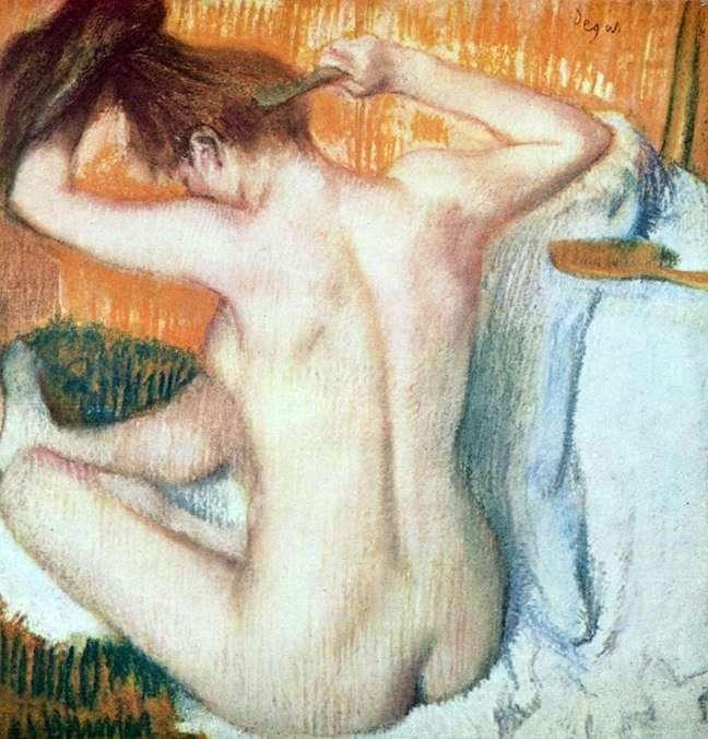 Жінка за туалетом   Едгар Дега