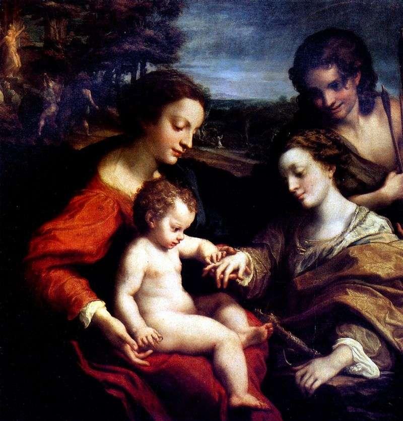 Заручення святої Катерини   Корреджо (Антоніо Алегрі)