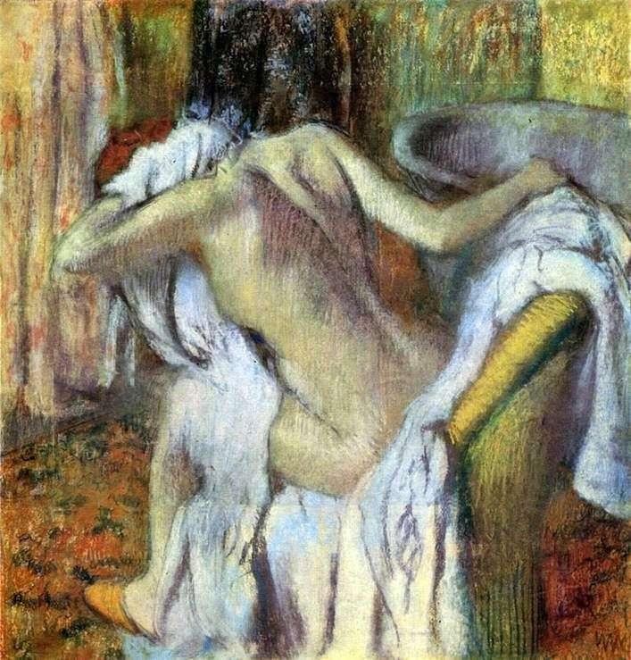Жінка, витирающая себе після ванни   Едгар Дега