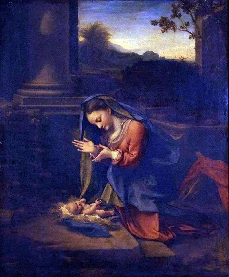 Поклоніння мадонни немовляті   Корреджо (Антоніо Алегрі)