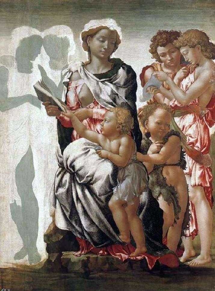 Мадонна з немовлям, Іоанн Хреститель і ангели   Мікеланджело Буонарроті