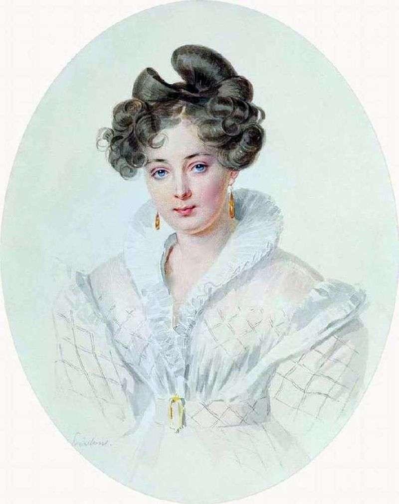 Портрет невідомої в білому платті (С. А. Urusovoj)   Петро Соколов