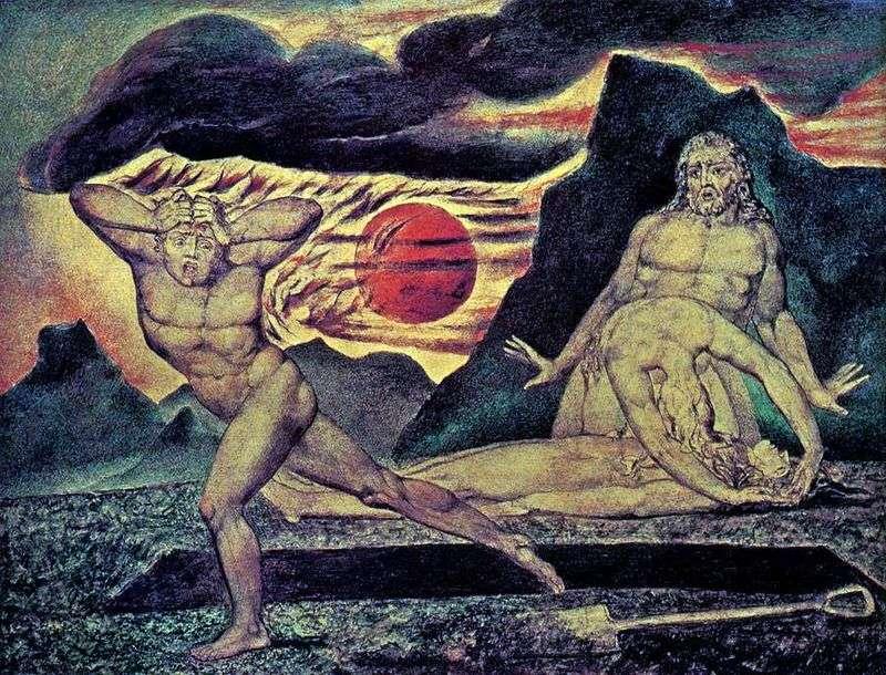 Адам і Єва знаходять тіло Авеля   Вільям Блейк