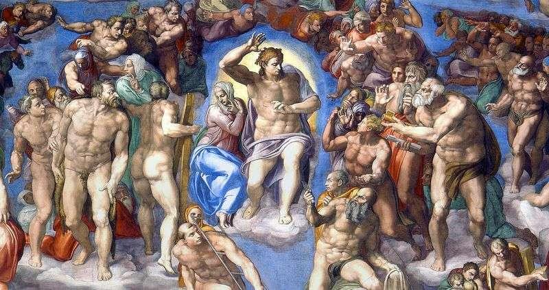 Образ Христа на фресці Страшний Суд   Мікеланджело Буонарроті