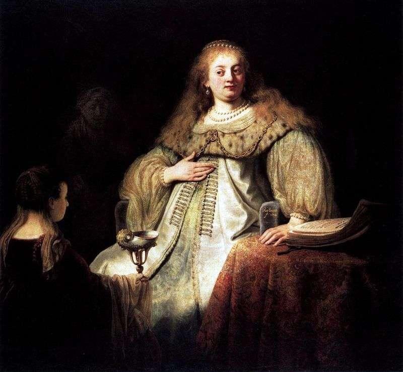 Софонисба приймає чашу з отрутою   Рембрандт Харменс Ван Рейн