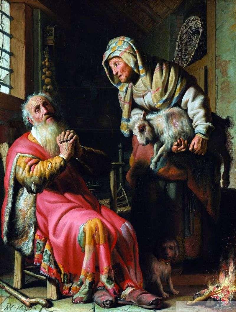 Товит, підозрює дружину в крадіжці   Рембрандт Харменс Ван Рейн