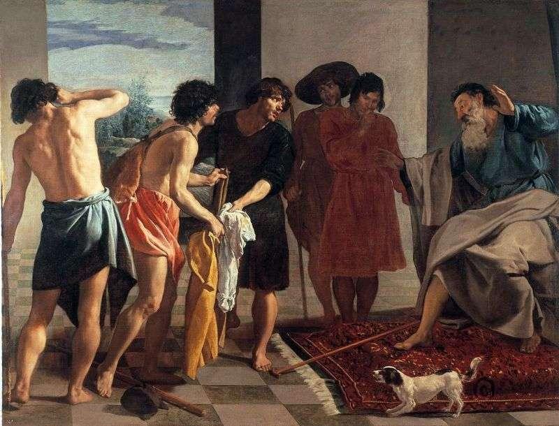 Закривавлений плащ Йосипа приносять Якову   Дієго Веласкес