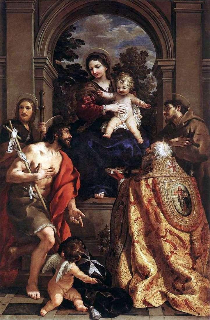 Мадонна зі святими   Пєтро да Кортона