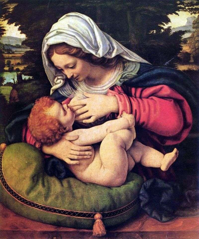 Мадонна з зеленої подушкою   Андрія Соларио