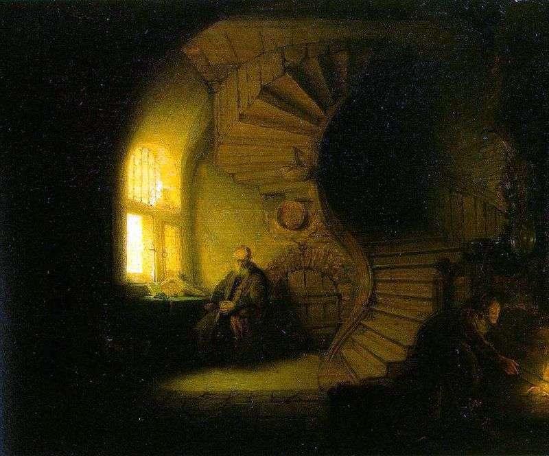 Філософ, розмірковує у своїй кімнаті   Рембрандт Харменс Ван Рейн