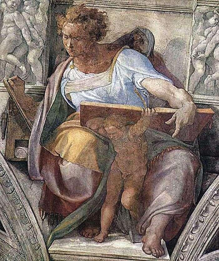 Пророк Даниїл (фреска)   буонарроті Мікеланджело Буонарроті
