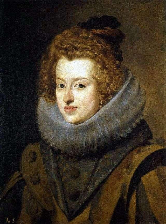 Портрет інфанти Марії Анни Іспанської королеви Угорщини   Дієго Веласкес