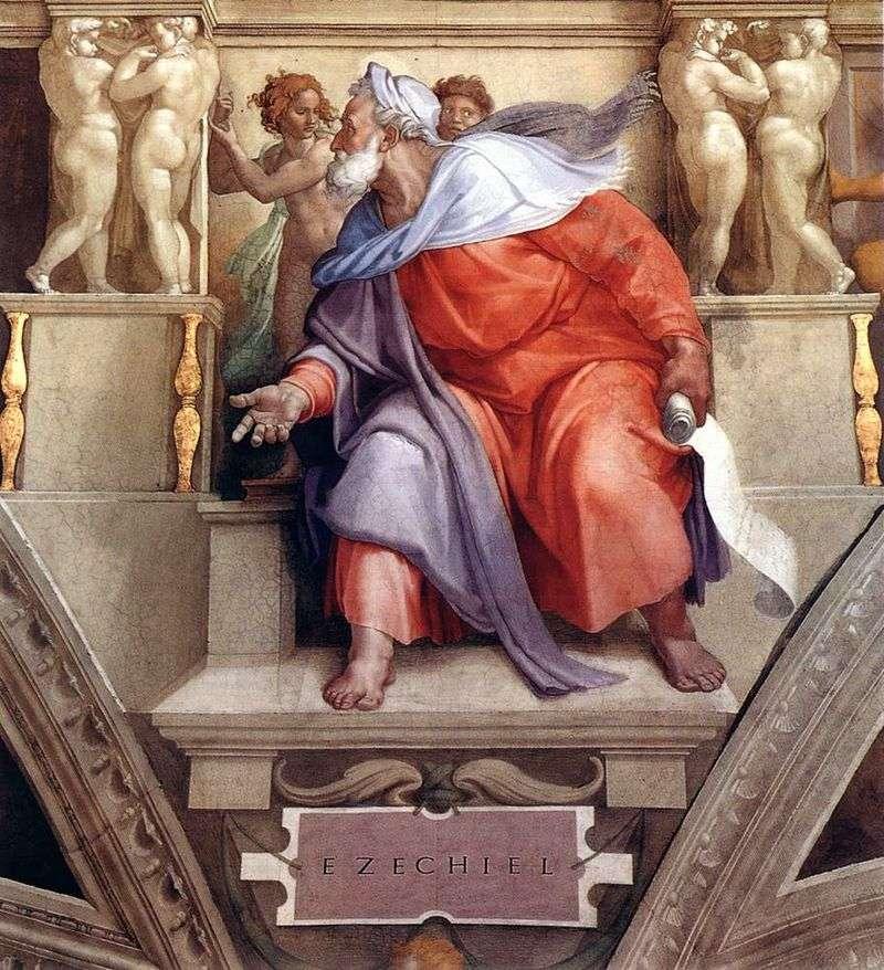 Пророк Єзекіїль (фреска)   Мікеланджело Буонарроті