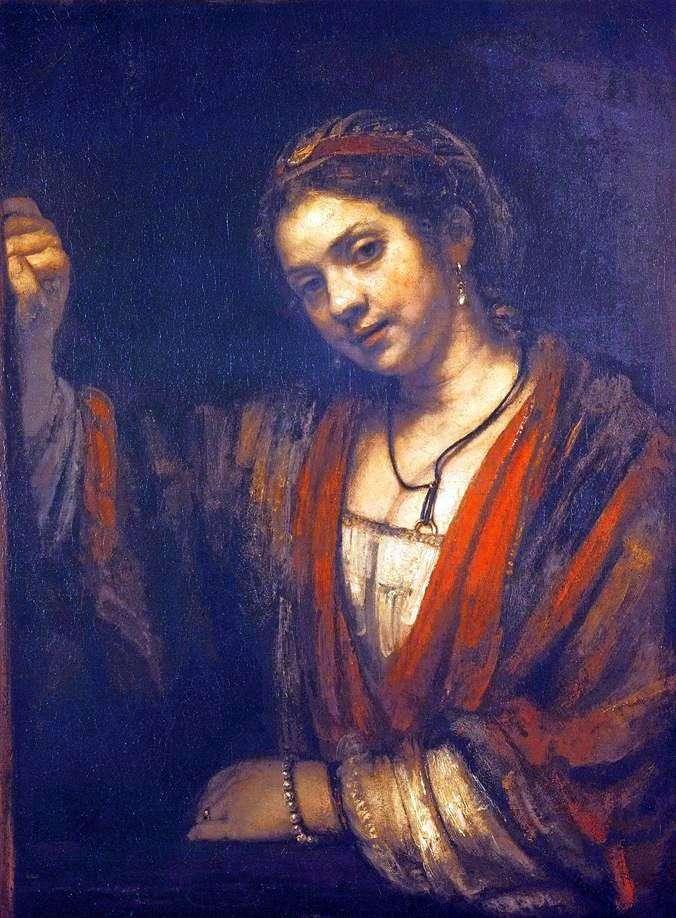 Хендрикье біля вікна   Рембрандт Харменс Ван Рейн