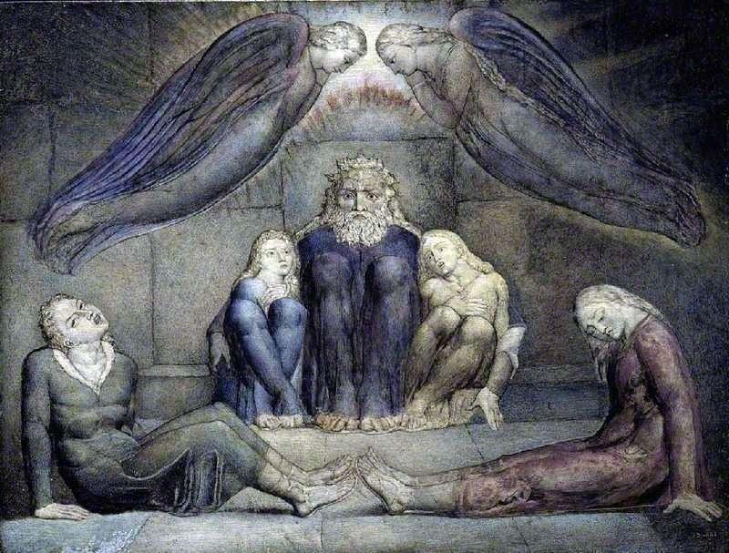 Уголино зі своїми синами в темниці   Вільям Блейк