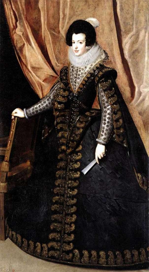 Портрет королеви Ізабелли Бурбонської   Дієго Веласкес