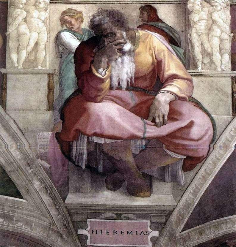 Пророк Єремія (фреска)   Мікеланджело Буонарроті