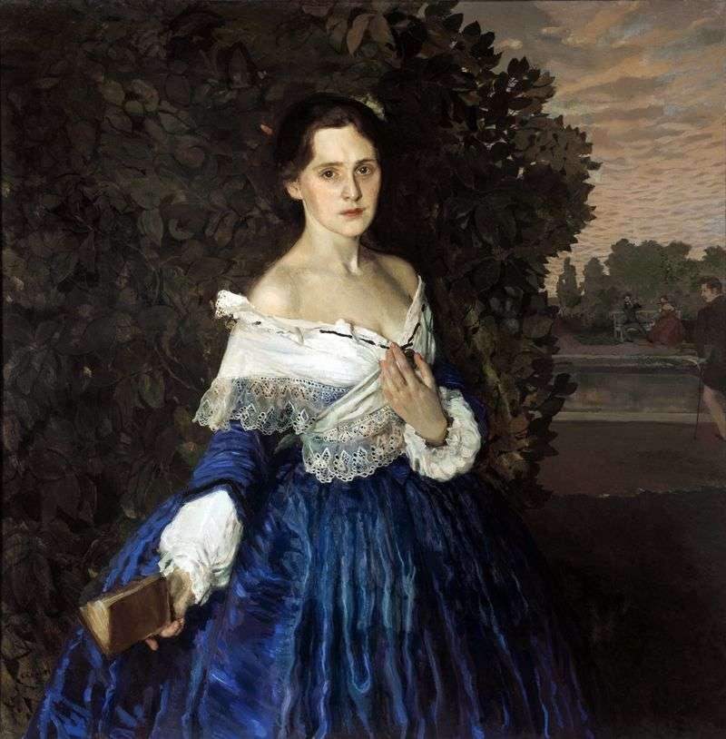 Дама в блакитному (Портрет художниці Е. М. Мартиновій)   Костянтин Сомов