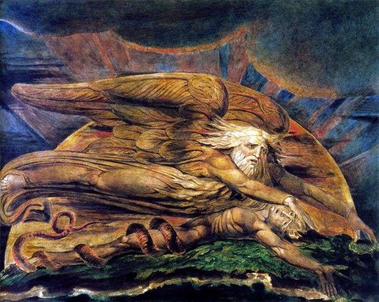 Елохім створює Адама   Вільям Блейк